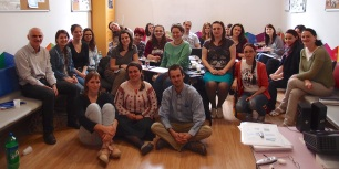 Still smiling after a weekend's workshops on teaching pronunciation and listening