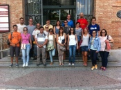 La Salle teachers outside the Museo de Ciencias Naturales in Madrid as part of their course on cooperative and collaborative learning.